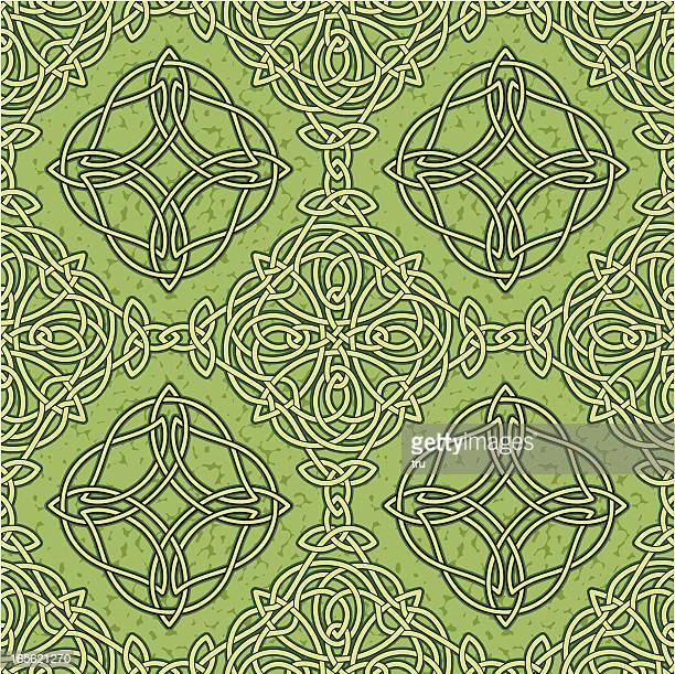 ケルトノットシームレスなパターン - ケルト風点のイラスト素材/クリップアート素材/マンガ素材/アイコン素材
