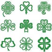 Celtic Knot Shamrocks