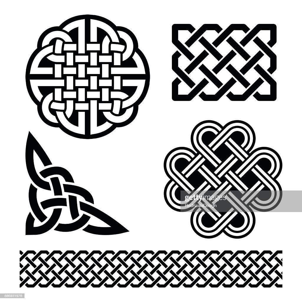 Celtic knots, braids and patterns