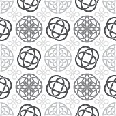 Celtic knots seamless pattern background