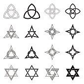 Celtic Knots Stars Patterns Set