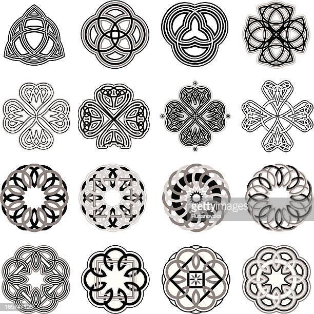 celtic knots - celtic cross stock illustrations, clip art, cartoons, & icons