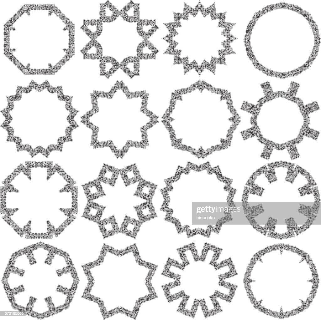 Celtic ornamental circles