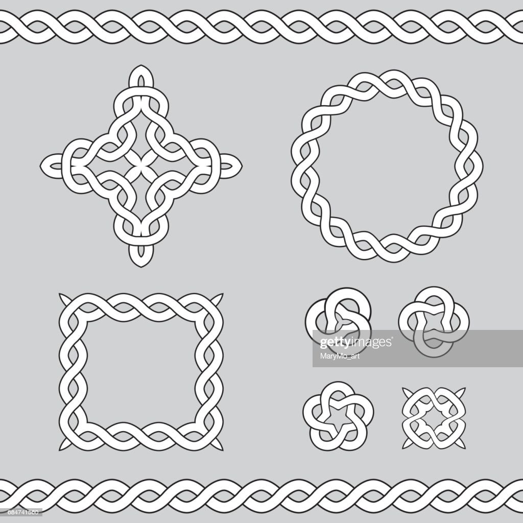 Celtic ornamental design elements.