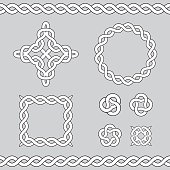 Celtic ornamental design elements.