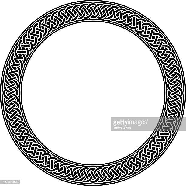 ケルトリングと結び目で永遠のブラックとホワイト - ケルト風点のイラスト素材/クリップアート素材/マンガ素材/アイコン素材