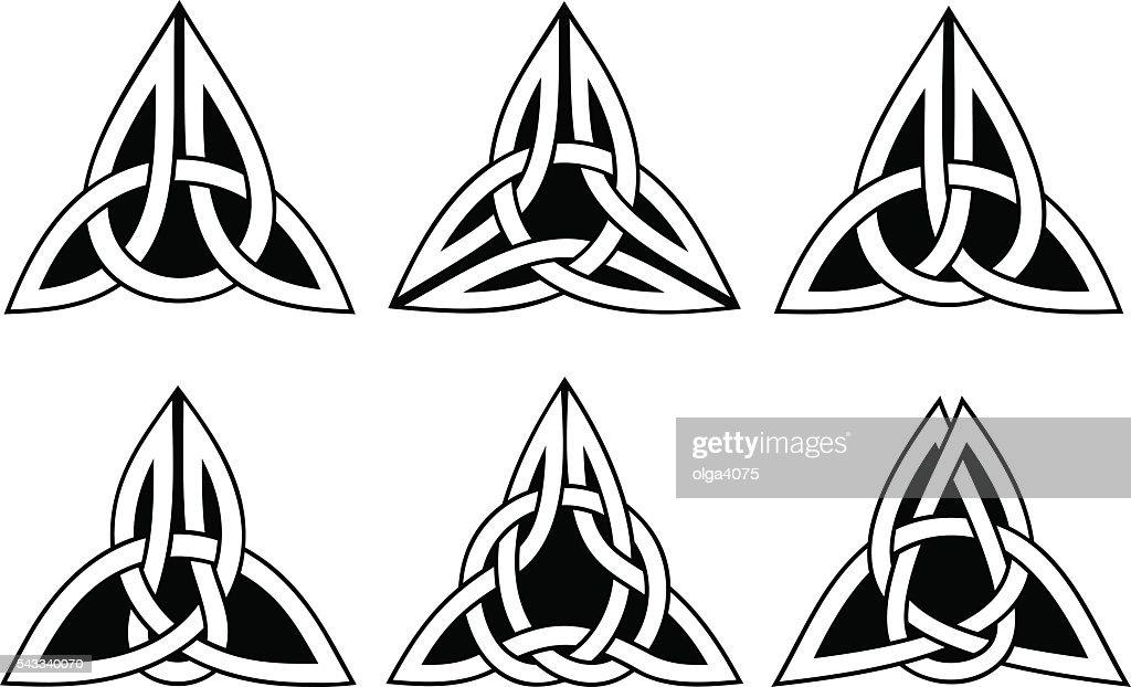 celtic trinity knot set