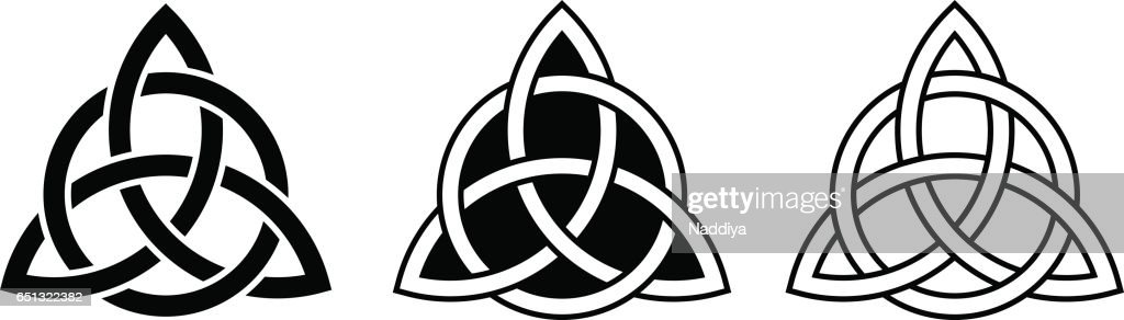 Celtic trinity knots. Vector illustration.