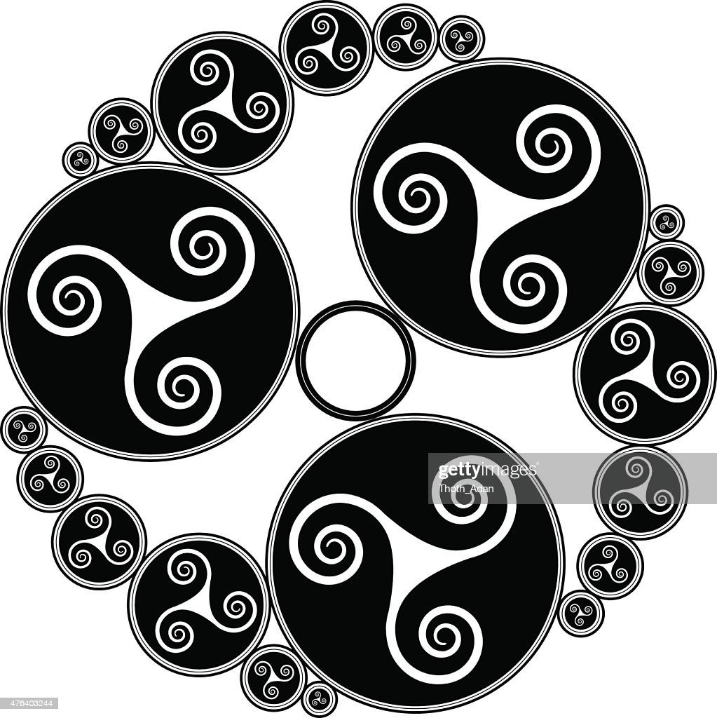 Celtic Triple Spirals Vector Art Getty Images