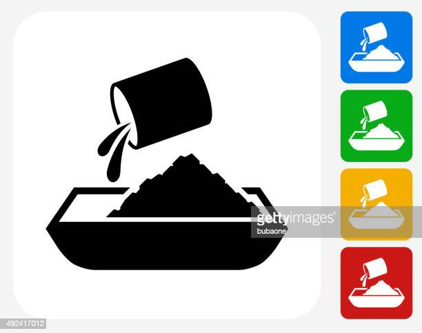 cement icon flat graphic design - mixing stock illustrations