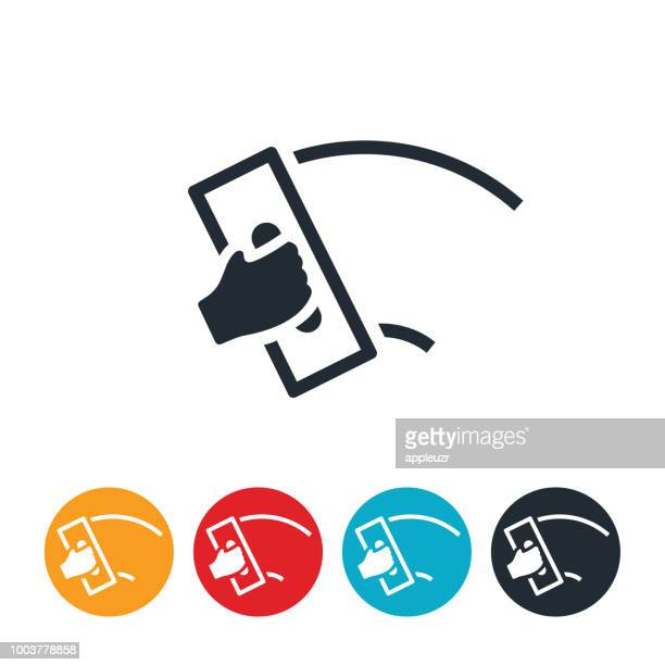 cement troweling icon - trowel stock illustrations, clip art, cartoons, & icons