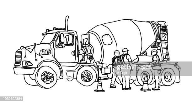 Cement Truck Worker Sketch