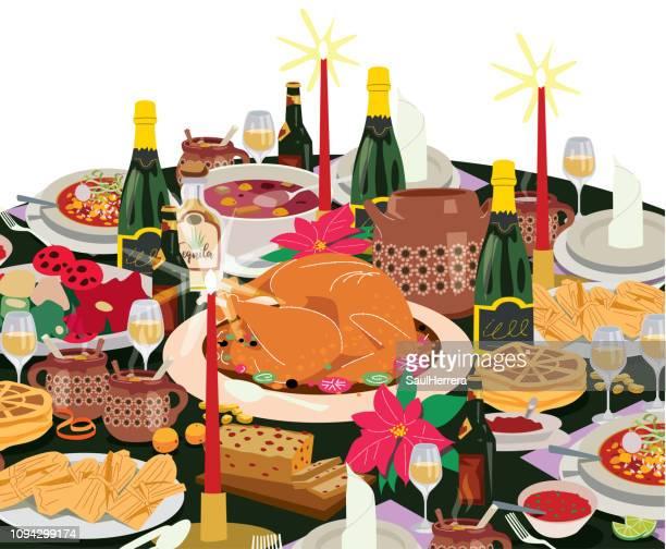 illustrations, cliparts, dessins animés et icônes de cena de navidad - galette des rois