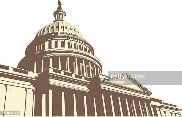 center of the world - capitol building washington dc stock illustrations