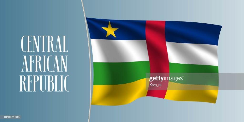 Central African Republic flag vector illustration