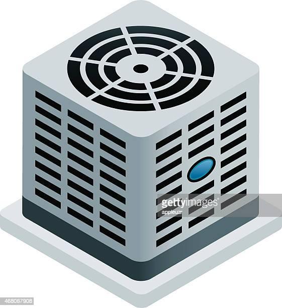 central air conditioner - air conditioner stock illustrations