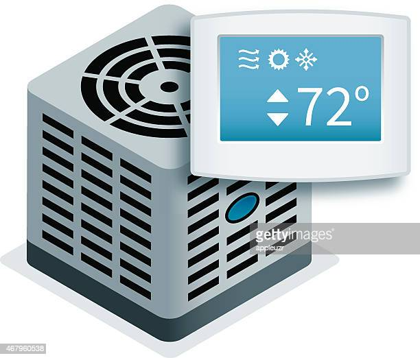 Central Air Conditioner with Thermostat