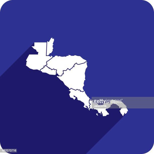 Central America Countries Icon Silhouettes