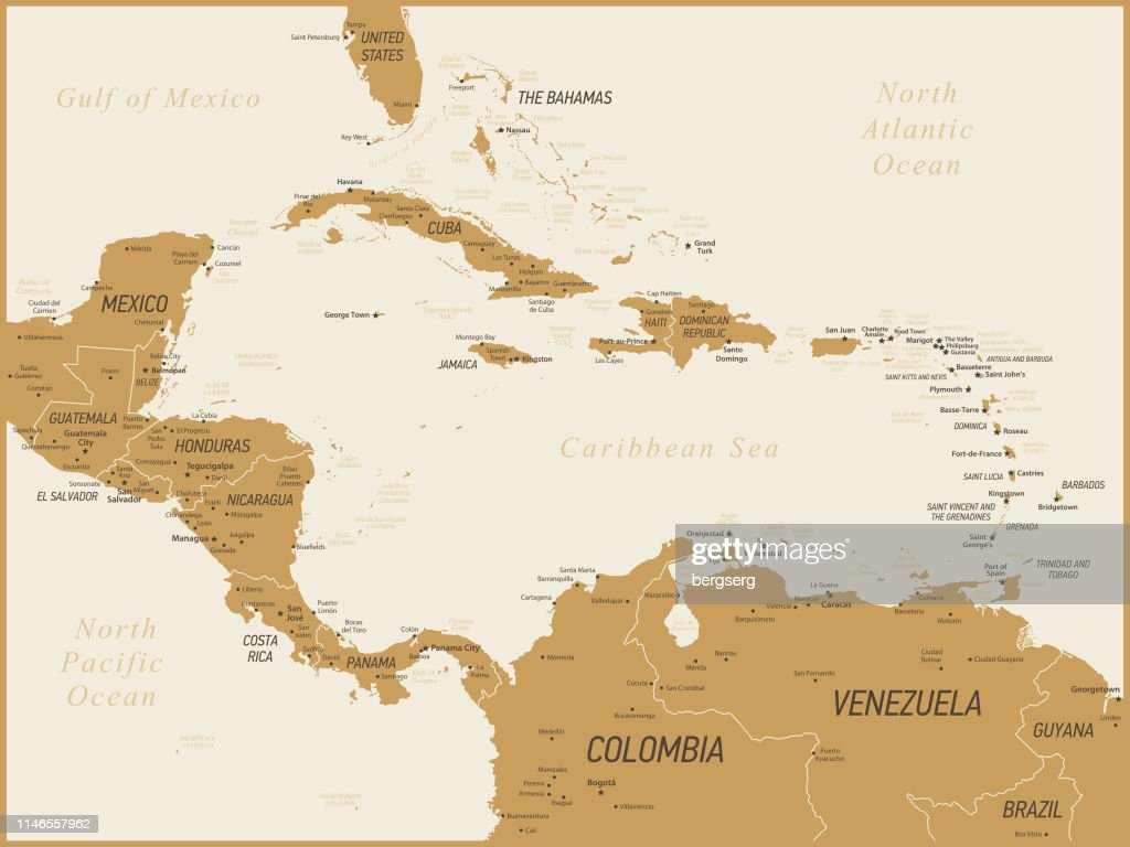 Central America Map Vector Illustration High-Res Vector ...