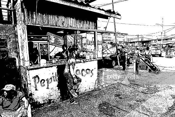 central america street food stand - panama city panama stock illustrations, clip art, cartoons, & icons