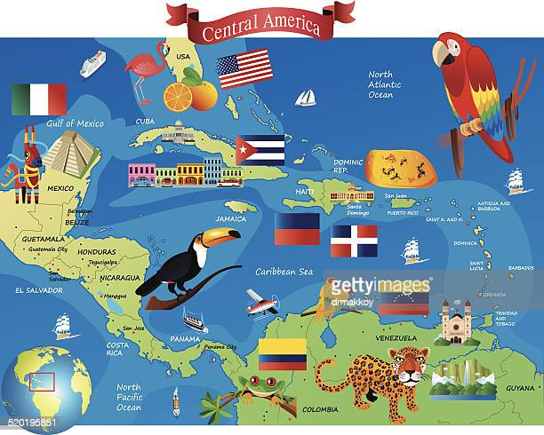 central america - latin america stock illustrations, clip art, cartoons, & icons