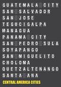 Central American Cities Name on Split flap Flip Board Display