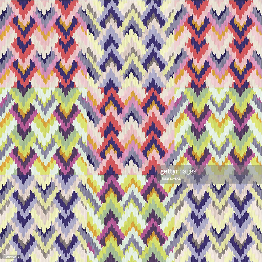 Central Asian Pattern (IKAT)