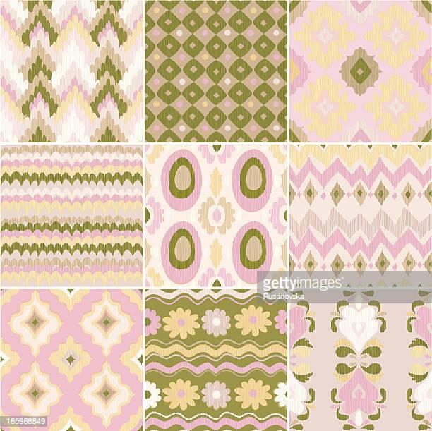 セントラルアジアのパターン(絣) - イカット点のイラスト素材/クリップアート素材/マンガ素材/アイコン素材