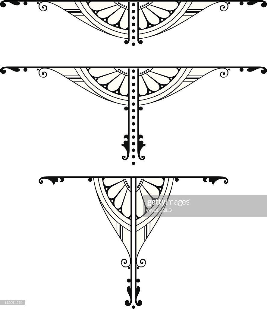 Centre Scroll Designs