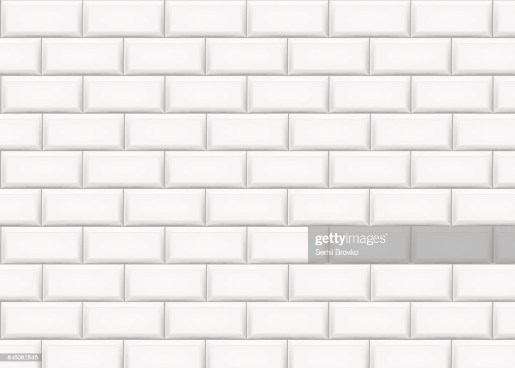 Ceramic brick tile wall. Vector illustration.