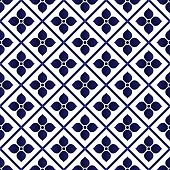 ceramic pattern bule and white