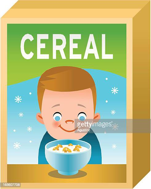 cereal box - breakfast cereal stock illustrations, clip art, cartoons, & icons