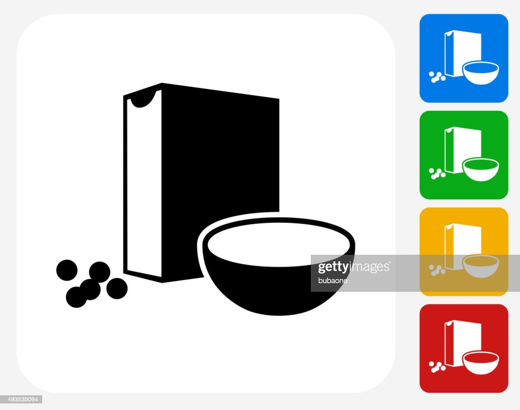 Cereal Icon Flat Graphic Design : stock illustration