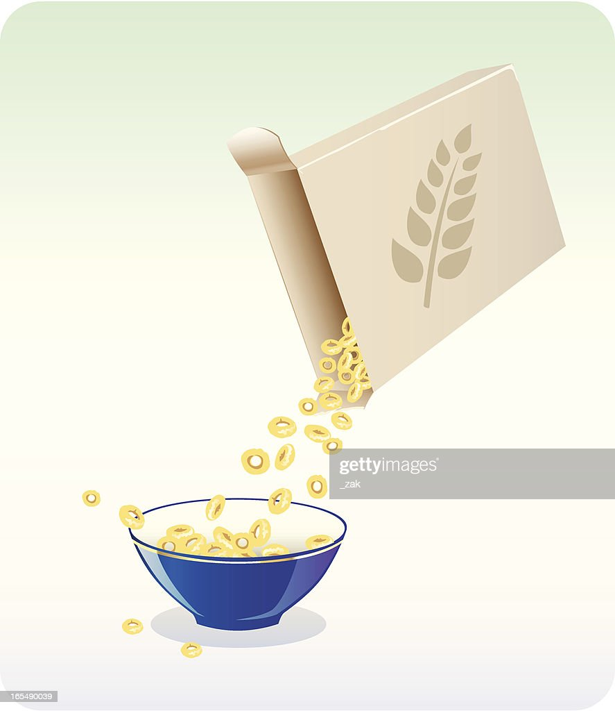 cereals for breakfast : stock illustration
