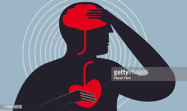 cerebrovascular accident - heart attack stock illustrations