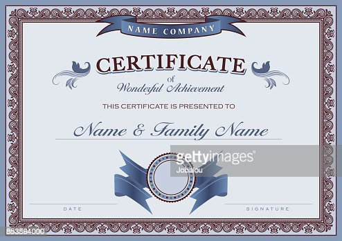 Certificate Achievement Classic Border Vector Art  Getty Images