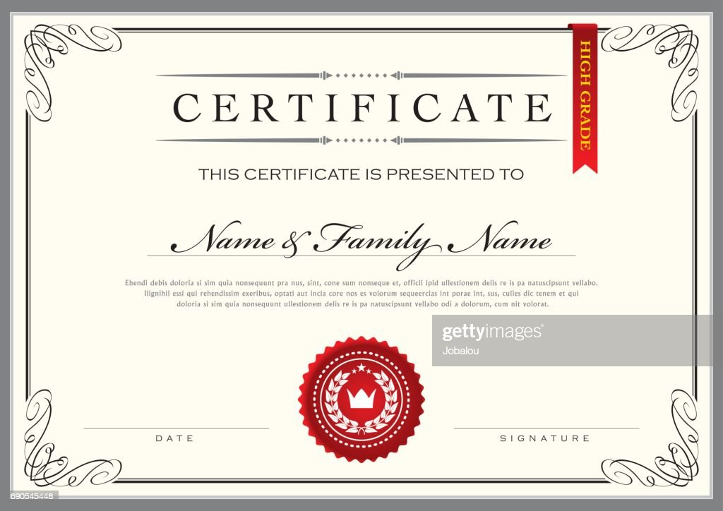 Certificate Achievement Diploma Vector Art Getty Images