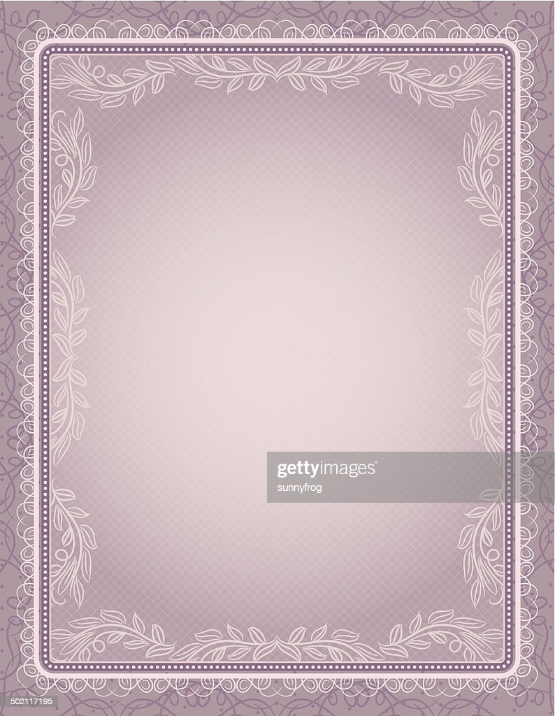 certificate background with calligraphic lines, vector
