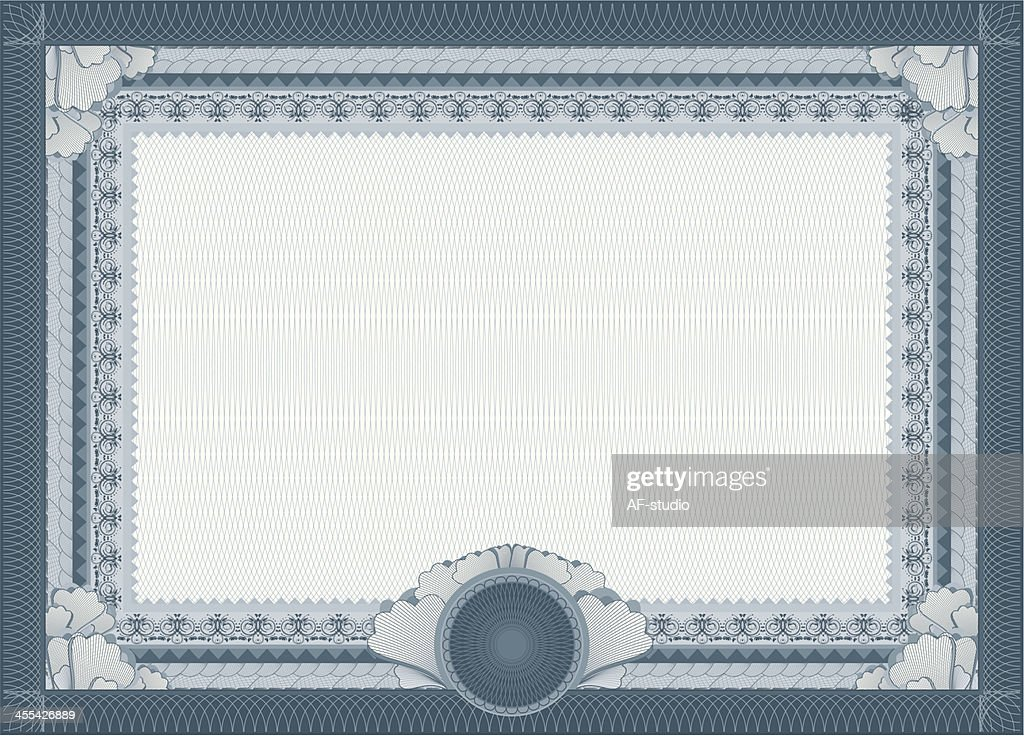 Certificate Blank Template Vector Art Getty Images