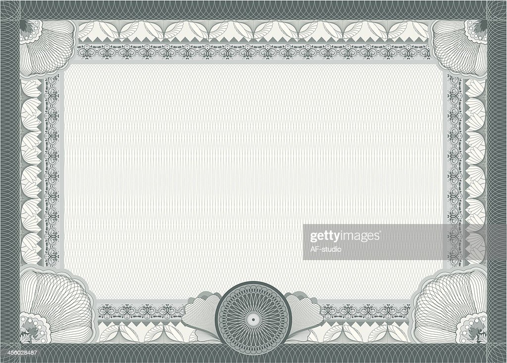 Stock Certificate Stock Illustrations And Cartoons Getty Images