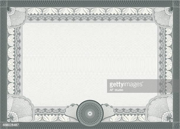 Certificate - blank template