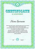 Certificate blank template.