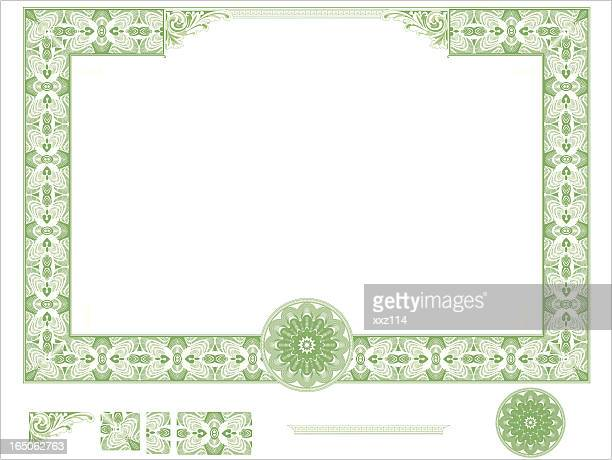 certificate border - thanks quotes stock illustrations