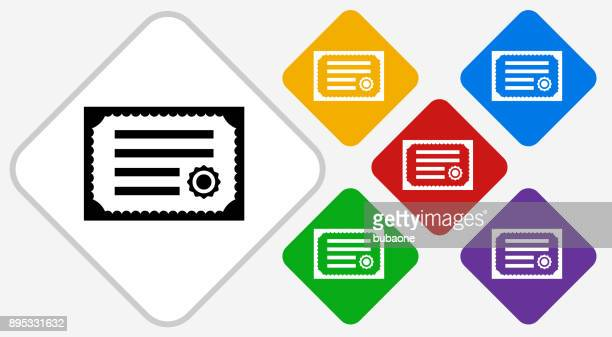 illustrations, cliparts, dessins animés et icônes de certificat couleur diamant vector icon - permis de conduire