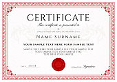 Certificate, Diploma of completion (design template, white background) with Frame, Border