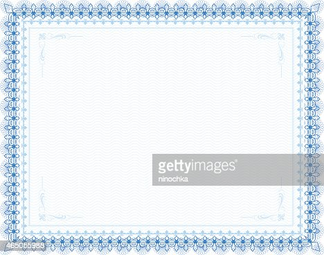 Certificate Frame Vector Art   Getty Images