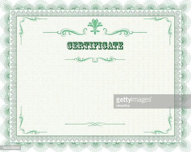 certificate frame - diploma stock illustrations