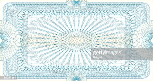 certificate guilloche ticket - coupon stock illustrations