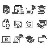 Certificate icon set