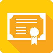 Certificate Icon Silhouette